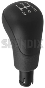 Shift knob Synthetic material grey 9445851 (1029566) - Volvo C70 (-2005), S40 V40 (-2004), S60 (-2009), S70 V70 (-2000), S80 (-2006), V70 P26, V70 XC (-2000), XC70 (2001-2007) - shift knob synthetic material grey Genuine grey material plastic synthetic