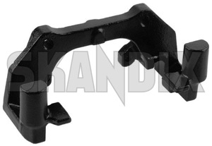 Carrier, Brake caliper fits left and right 8251319 (1029834) - Volvo 850, C70 (-2005), S70 V70 V70XC (-2000) - brake caliper bracket brakecalipercarrier carrier bracket carrier brake caliper fits left and right mounting bracket Genuine 16 16inch 302 302mm and axle fits front inch left mm new part right