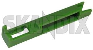 Clip, Body trim Rail Trim, Roof edge 9133187 (1030721) - Volvo 850, S70 V70 (-2000), V70 XC (-2000) - clip body trim rail trim roof edge Genuine edge green material plastic rail roof synthetic trim trim