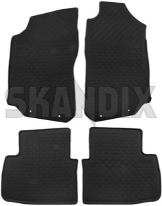 Floor accessory mats Rubber black 32026134 (1031158) - Saab 9-5 (-2010) - floor accessory mats rubber black Genuine black drive for hand left lefthand left hand lefthanddrive lhd rubber vehicles