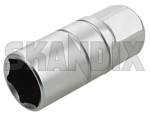 Hexagon socket wrench SW 21 for Spark plug with Rubber securing element  (1031229) - universal  - hexagon socket wrench sw 21 for spark plug with rubber securing element Own-label 1/2 12 1 2  1/2 12inch 1 2 inch 12,5 125 12 5 12,5 125mm 12 5mm 21 element for inch mm plug rubber securing spark sw with