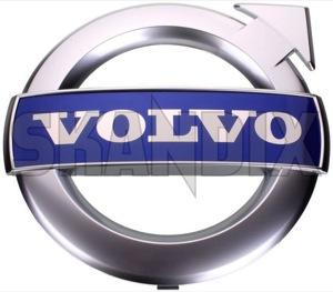 Emblem Kühlergrill 31383033 (1033532) - Volvo S60 (2011-2018), V60 (2011-2018), XC60 (-2017) - badges emblem kuehlergrill embleme enbleme estate gelaendewagen kombi limousine plaketten s60 s60ii schriftzug sedan stufenheck suv v60 wagon xc xc60 Original 142 142mm chrome fahrzeuge fuer krom kuehlergrill matt matter mit mm rdesign r design verchromt verchromter