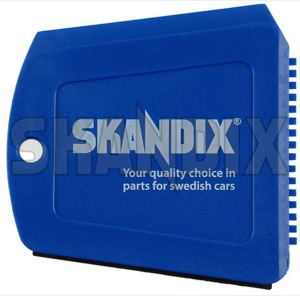 Ice scraper blue with Water edge  (1033841) - universal  - ice scraper blue with water edge Own-label blue edge logo skandix trapezoidal water with