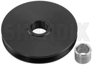 Guide pulley, Hand brake cable 680907 (1035303) - Volvo 140, 164, P1800 - 1800e brake cables cable guide pulley guide pulley hand brake cable handbrake cables p1800e pulleys redirection reel roll skandix sleeve with