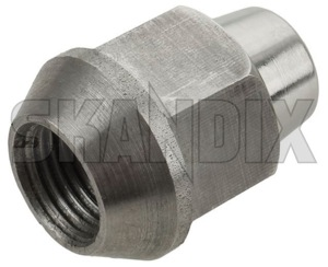 Wheel nut Zinc-coated 1273332 (1036502) - Volvo 120 130 220, 140, 164, 200, P1800, P1800ES, PV, PV P210 - 1800e p1800e wheel nut zinc coated wheel nut zinccoated Genuine 19 righthand right hand thread with zinccoated zinc coated
