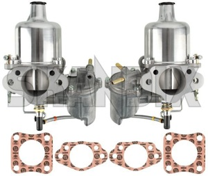 Carburettor SU HS6 Kit 2 Pcs  (1037832) - Volvo 120 130 220, 140, P1800, PV - 1800e carburetor carburettor su hs6 kit 2pcs p1800e Own-label 2 2pcs air carburetor carburettor choke connection distributor double dual filter flange for holes hs6 ignition kit manual new part pcs stage su swinging twin two twostage type vacuum with without zh