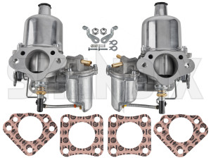 Carburettor SU HS6 Kit 2 Pcs  (1037833) - Volvo 120 130 220, 140, P1800, PV - 1800e carburetor carburettor su hs6 kit 2pcs p1800e Own-label 2 2pcs air carburetor carburettor choke double dual filter flange holes hs6 kit kn manual new part pcs stage su twin two twostage with