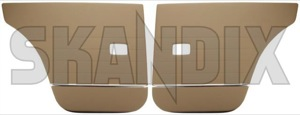Interior door panel rear brown Kit for both sides  (1038259) - Volvo 120 130 220 - covering covers door cards interior door panel rear brown kit for both sides upholstery Own-label 138 203 138203 138 203 501 230 501230 501 230 both brown drivers for kit left passengers rear right side sides