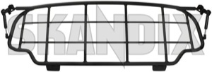 Absperrgitter, Koffer-/ Laderaum 30715967 (1038558) - Volvo XC60 (-2017) - absperrgitter koffer laderaum absperrgitter kofferladeraum absperrnetz anstellgitter gelaendewagen gepaeckgitter gepaeckraumgitter gitter hundegitter kofferraumgitter laderaumgitter schutzgitter suv trenngitter xc xc60 Original schwarz schwarzer