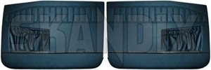 Interior door panel Driver side Passengers side blue Vinyl Kit for both sides  (1039050) - Volvo 220 - covering covers door cards interior door panel driver side passengers side blue vinyl kit for both sides upholstery Own-label 523 599 523599 523 599 blue both driver drivers for kit left passengers right side sides vinyl