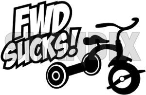 Aufkleber Front Wheel Drive Sucks schwarz  (1041196) - universal  - aufkleber front wheel drive sucks schwarz autoaufkleber funaufkleber fun aufkleber kleber sticker Hausmarke 130 130mm 200 200mm drive front mm schwarz schwarzer sucks wheel
