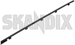 Drip rail moulding left rear Section 12795075 (1042557) - Saab 9-3 (2003-) - drip rail moulding left rear section trim moulding Genuine black left rear section