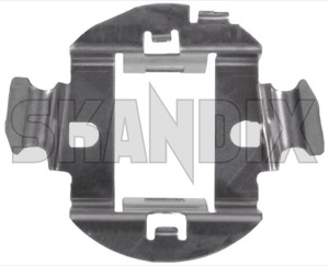 Retainer, Illuminant H7 Sheet steel  (1042852) - Saab 9-3 (2003-) - light bulb mounting brackets mounting supports retainer illuminant h7 sheet steel Own-label beam frontbeam h7 headlight headlightbulbs sheet spotlight steel