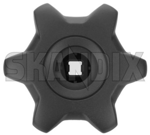 Handle, Seat adjustment for Lumbar support 30619800 (1042942) - Volvo S40 V40 (-2004), S60 (-2009), S80 (-2006), V70 P26, XC70 (2001-2007), XC90 (-2014) - handle seat adjustment for lumbar support handles manual adjuster Genuine for front handle handles lumbar rotary seat seats support twist