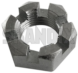 Castle nut 190573 (1043025) - Volvo 120 130 220, P1800, PV - 1800e castle nut p1800e Own-label 3/8 38x24 3 8 x24 inch thread unf with zinccoated zinc coated