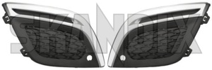 Abdeckung, Stoßstange Satz für beide Seiten 30758120 (1043946) - Volvo XC60 (-2017) - abdeckgrill abdeckung stossstange satz fuer beide seiten abdeckungen abschirmung frontstossstangen gelaendewagen gitter grille kuehlergitter kuehlergrill stossstangenabdeckung stossstangengitter suv xc xc60 Original beide beidseitig beifahrerseite einparkhilfe fahrerseite fahrzeuge fuer linke linker links mit modell nebelscheinwerfer ohne rdesign r design rechte rechter rechts satz seite seiten set vorderer vorne