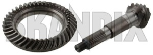 Pinion and crown wheel, Differential 4,55:1 661518 (1044071) - Volvo 120 130, P1800, PV - 1800e bevel gear p1800e pinion and crown wheel differential 4 55 1 pinion and crown wheel differential 4551 Own-label 4,55 4551 4 55 1 axle m27 rearaxle rearaxledifferential spicer spiceraxle spicerdifferential spicerrearaxle spicerrearaxledifferential system