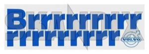 Sticker Brrr...  (1044497) - Volvo 120 130 220, 140, 164, 200, P1800, P1800ES - 1800e decals label p1800e sticker brrr sticker brrr   vp autoparts 155 155mm 45 45mm brrr brrr   inner mm