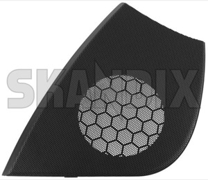 Speaker cover 5550801 (1044929) - Saab 9-5 (-2010) - loudspeaker speaker cover Genuine black dashboard drive for hand left lefthand left hand lefthanddrive lhd right vehicles