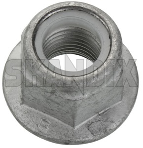 Nut, Mount Shock absorber Front axle upper self-locking 999250 (1045373) - Volvo C30, C70 (2006-), S40 V50 (2004-), V40 (2013-), V40 XC - nut mount shock absorber front axle upper self locking nut mount shock absorber front axle upper selflocking Genuine axle fasteners front inserts klemmteil locking locknuts nuts nyloc nylon plastic retaining rings self selflocking self locking selflocking stopmutter stoppmutter upper