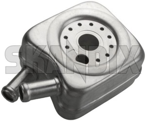 Oil cooler, Engine oil 1328223 (1046706) - Volvo 700, 850, 900, S70 V70 (-2000), S80 (-2006), V70 P26 - oil cooler engine oil Own-label cooling wateroil water oil with