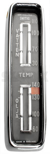 Gauge, Coolant-/ oil temperature Exchange part Swedish 665259 (1048752) - Volvo P1800 - 1800e clocks cooling water engineoil gauge coolant  oil temperature exchange part swedish gauge coolant oil temperature exchange part swedish gauges instruments p1800e temperature cluster Own-label ˚c attention attention  exchange part policy return special swedish with