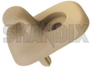 Clip, Sunvisor 1386916 (1048824) - Volvo 700, 900 - clip sunvisor Genuine beige for roof sun vehicles without