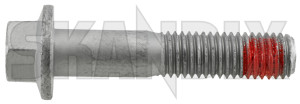 Bolt, Mount Shock absorber lower Rear axle 989035 (1050502) - Volvo S60 (-2009), V70 P26, XC70 (2001-2007) - bolt mount shock absorber lower rear axle screws shocks Genuine adjustment axle for height locking lower needed rear ride screw vehicles with