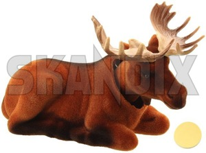 Bobblehead moose  (1053752) - universal  - bobbledoll bobbleelk bobblehead moose bobblemoose doll elk mascot Own-label 100 100mm 160 160mm 70 70mm lightbrown light brown mm