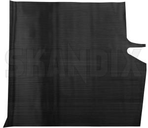 Trunk mat Rubber black  (1053769) - Volvo 140, 200 - trunk mat rubber black skandix black flat mat rubber