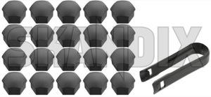 Zierkappe, Radbolzen Satz 31471686 (1054633) - Volvo C30, C70 (2006-), S40 V50 (2004-), V40 (2013-), V40 XC - abdeckkappen abdeckungen cabrio cc coupe cross country deckel estate kappen kappenabdeckungen kombi mutternkappe plastikabdeckungen radbolzenabdeckkappen radbolzenabdeckungen radbolzendeckel radbolzenkappen radbolzenschutzkappe radmutterabdeckkappen radmutterabdeckungen radmutterdeckel radmutterkappen radmutternabdeckkappen radmutternabdeckungen radmutterndeckel radmutternschutzkappe radschraubenabdeckappen radschraubenabdeckungen radschraubendeckel radschraubenkappen radschraubenschutzkappe s40 s40ii schutzkappe v40 v50 wagon zierkappe radbolzen satz zierkappen Original 19 dunkelgrau dunkelgrauer grau grauer satz set