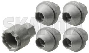 Rim lock set 31439228 (1054679) - Volvo C30, C70 (2006-), S40 V50 (2004-), V40 (2013-), V40 XC - rim lock set Genuine