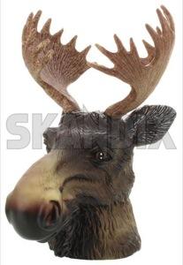 Cap, Ball head Trailer hitch Elk head  (1055207) - universal  - cap ball head trailer hitch elk head Own-label elk elkhead head moosehead rubber