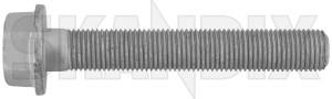 Bolt, Mount Shock absorber lower Rear axle 32022192 (1056417) - Saab 9-3 (2003-), 9-3X, 9-5 (-2010) - bolt mount shock absorber lower rear axle screws shocks Genuine axle locking lower needed rear screw