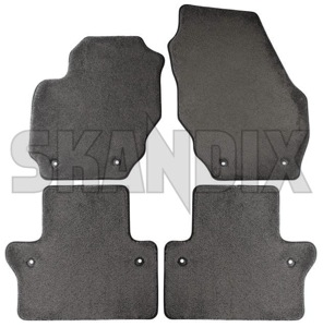 Clear Coverking Front and Rear Floor Mats for Select Volvo C70 Models CFMB5FVO9278 Nibbed Vinyl
