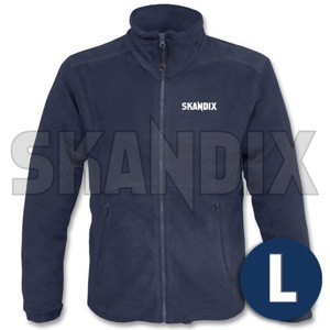 Fleece Jacket SKANDIX Motorsport L blue  (1059390) - universal  - coats fleece jacket skandix motorsport l blue jackets Own-label blue front full imprint l longsleeved long sleeved motorsport skandix with zipper
