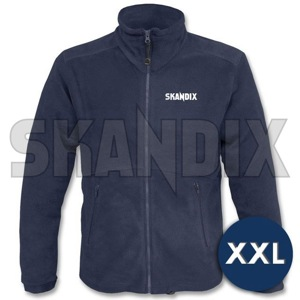 Fleece Jacket SKANDIX Motorsport XXL blue  (1059392) - universal  - coats fleece jacket skandix motorsport xxl blue jackets Own-label blue front full imprint longsleeved long sleeved motorsport skandix with xxl zipper