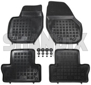 Floor accessory mats Rubber black  (1059714) - Volvo S60 (2011-2018), S60 XC (-2018), V60 (2011-2018), V60 XC (-18), XC60 (-2017) - floor accessory mats rubber black Own-label black bowl drive for hand left lefthand left hand lefthanddrive lhd mat rubber vehicles