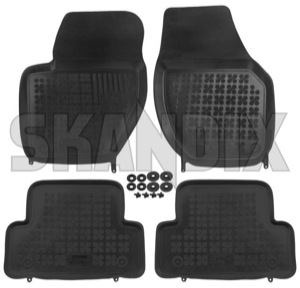 Floor accessory mats Rubber black  (1059716) - Volvo V40 (2013-), V40 XC - floor accessory mats rubber black Own-label black bowl drive for hand left lefthand left hand lefthanddrive lhd mat rubber vehicles