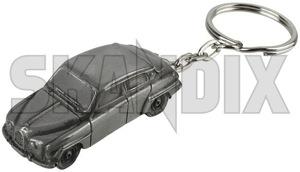 Schlüsselanhänger Saab 96  (1060405) - universal  - anhaenger schluesselanhaenger saab 96 schluesselbundanhaenger Hausmarke 96 harzaluminium harz aluminium saab