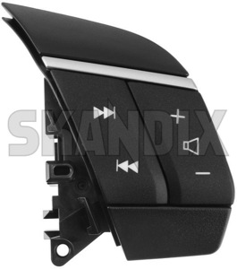 Switch, Multifunction Steering wheel Radio control charcoal 30710707 (1060859) - Volvo S60 (-2009), V70 P26, XC70 (2001-2007), XC90 (-2014) - knobs multifunctional switch multifunction steering wheel radio control charcoal switches switchs Genuine 3  3spokes 3 spokes audiosystem car charcoal control knobs radio stereo