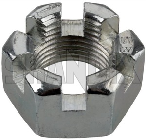 Castle nut  (1062469) - universal Classic - castle nut Own-label 3/4 34 3 4  inch thread unf with zinccoated zinc coated