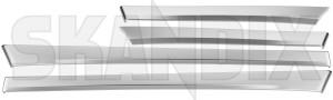 Zierleiste, Türverkleidung Metallfinish Satz 12799683 (1066076) - Saab 9-3 (2003-) - 93 93 9 3 estate kombi limousine sedan stufenheck tuerverkleidungszierleisten wagon zierleiste tuerverkleidung metallfinish satz zierleisten Original metallfinish satz set