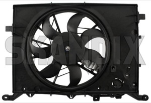 Electrical radiator fan 30680512 (1067547) - Volvo S60 (-2009), S80 (-2006), V70 P26, XC70 (2001-2007) - cooler cooling fans electrical radiator fan electrically engine fans fan motor Own-label cx01