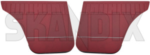 Interior door panel rear red Kit for both sides  (1067740) - Volvo 120 130 220 - covering covers door cards interior door panel rear red kit for both sides upholstery Own-label 518 544 518544 518 544 both drivers for kit left passengers rear red right side sides