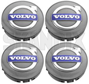 Wheel Center Cap silver for Genuine Light alloy rims Kit 31428881 (1067852) - Volvo 200, 700, 850, 900, C30, C70 (2006-), C70 (-2005), S40 (-2004), S40 V50 (2004-), S60 (2019-), S60 (-2009), S60, V60, S60XC, V60XC (2011-2018), S70 V70 V70XC (-2000), S80 (2007-), S80 (-2006), S90 V90 (2017-), S90 V90 (-1998), V40 (2013-), V40 XC, V60 (2019-), V60 XC (19-), V70 P26, XC70 (2001-2007), V70 XC70 (2008-), V90 XC, XC40, XC60 (2018-), XC60 (-2017), XC90 (2016-), XC90 (-2014) - brick caps centercaps covers hub caps hubcaps hubcovers hubs middle rim trim wheel caps wheel center cap silver for genuine light alloy rims kit wheel cover wheel trim Genuine volvo  volvo  16 16 16  17 17 17  64 64mm alloy arcadia auriga crater cronus for genuine helia kit light material mm plastic pulsar rims silver synthetic virgo
