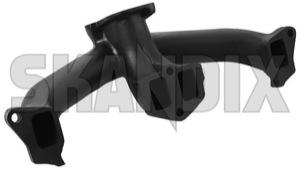 Manifold, Exhaust system 419728 (1068116) - Volvo 140, P1800, P1800ES - 1800e manifold exhaust system p1800e skandix cast castiron double gray grey iron manifold new part tube