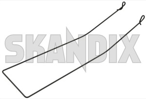 Wire, Lumbar support Back rest inner 1395709 (1068226) - Volvo 200 - seats frames steel wires wire lumbar support back rest inner Genuine 194 194mm inner mm