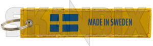 Key fob Jettag Made in Sweden yellow  (1068252) - universal  - key fob jettag made in sweden yellow Own-label 130 130mm 30 30mm cloth fabric fleece in jettag made mm sweden textile woven yellow