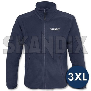 Fleece Jacket SKANDIX Motorsport XXXL blue  (1068742) - universal  - coats fleece jacket skandix motorsport xxxl blue jackets Own-label blue front full imprint longsleeved long sleeved motorsport skandix with xxxl zipper